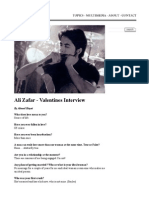 Valentines Interview with Ali Zafar