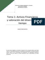 Activos Financieros. Valoración del dinero en el tiempo