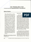 Person Job Fit Mediating Role of Job Satisfaction & Organizational Commitment