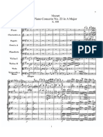 Mozart Piano Concerto No 23 in a, K 488. I. Allegro