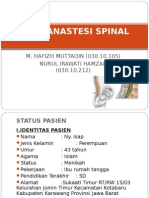 Case Anastesi Spinal