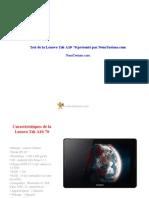 Test de La Lenovo Tab A10-70