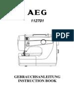 Anleitung AEG Nähmaschine
