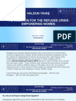 Haldun Yavas - The Solution for the Refugee Crisis Empowering Women