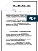 Ratnakar Capital Budgeting