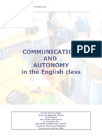 communication & autonomy in the English class-càtedres