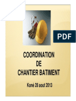 la coordination de Chantier Batiment