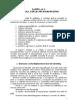 Capitolul 2 Procesul Cercetarilor de Marketing