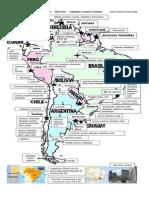 América del Sur mapa económico
