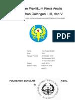 Laporan Pemisahan Gologan I, III, V