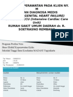 ASKEP ASUHAN KEPERAWATAN PADA KLIEN NY. MDENGAN DIAGNOSA MEDIS CHF (CONGENITAL HEART FAILURE)DI RUANG ICCU (Intensive Cardiac Care Unit) RUMAH SAKIT UMUM DAERAH dr. R. SOETRASNO REMBANG