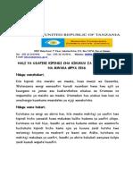 Sumatra Yazungumzia Hali Ya Usafiri Mwisho Wa Mwaka 2015
