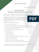 Circular Interna - Postulacion Practicas y Memorias 2016