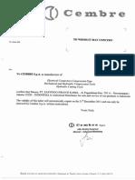 CEMBRE Distributor Letter 2011