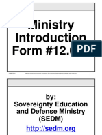 SEDM Ministry Introduction, Form #12.014