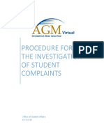Procedure for the Investigation of Student Complaints