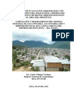 Proyecto Evaluacion Tingo Maria, Casco Urbano
