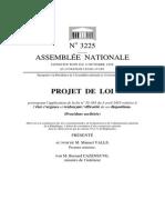 Projet de loi état d'urgence 2015