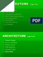 Architecture - Intl