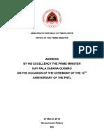 10th Anniversary of PNTL 27.3.10