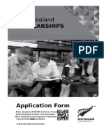 New Zealand Scholarships Application Form 2015