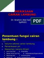 PEMERIKSAAN CAIRAN LAMBUNG
