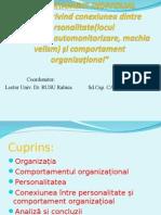 Personalitate Si Comportament Organizational