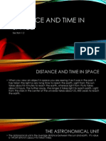 distance and time in space 1 2