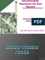 Restauracion I-7º CLASE Vitrubio y Palladio