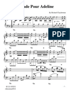 richard clayderman ballade pour adeline sheet music pdf