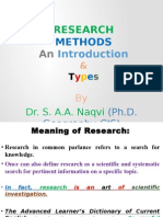 Research Methods an Intro by Dr.asad Naqvi