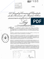 Ley 13688 Educacion Provincial