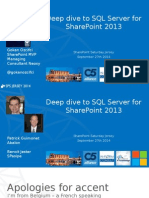 Deep Dive to SQL Server for 2013 SharePoint
