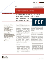 Plmj - Novas Alteracoes No Regime Das Actividades de-comercio