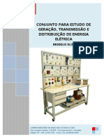 CONJUNTO PARA ESTUDO DE GERAÇÃO, TRANSMISSÃO E DISTRIBUIÇÃO DE ENERGIA ELÉTRICA