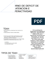 Trastorno de Deficit de Atencion e Hiperactividad
