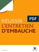 RÉUSSIR L'ENTRETIEN D'EMBAUCHE
