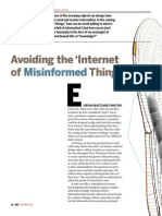 Avoiding the Internet of Misinformed Things