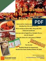 Chili and Rib Dinner
