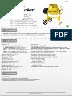 Ficha Tecnica Betoneira 130l 8937