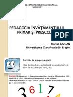 Pedagogia Invatamantului Primar Si Prescolar