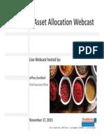 Asset Allocation Core Flex Webcast Slides