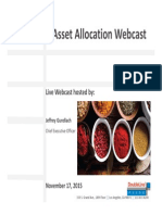 Asset Allocation Core Flex Webcast Slides