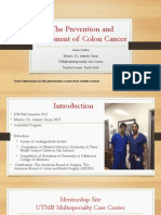 the prevention and treatment of colon cancer