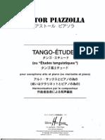 Astor Piazzolla, Tango Etudes pour saxophone alto et piano