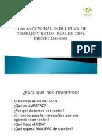L%c3%8dNEAS GENERALES DEL PLAN DE TRABAJO PARA EL CDN