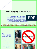 Powerpoint Anti Bullying Act in the Philippines