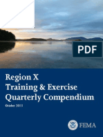 RegionX  Training & Exercise Quarterly Oct. 2013