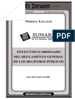 Reglamento de Registros Publicos Ley 26639