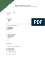 Expressões Numéricas Com Adição e Subtração